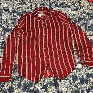 Red stripe button up